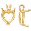 14k Yellow Heart Shape Double Wire Pendant