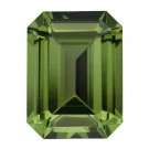 Emerald Cut Synthetic Peridot