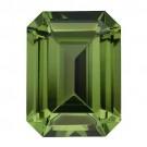 Emerald Cut Synthetic Peridot