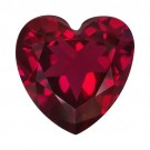 Heart Shape Synthetic Garnet