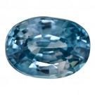 Oval Synthetic Blue Zircon