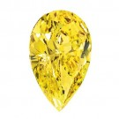 Pear Shape Synthetic Yellow Topaz