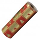 "Red & Gold Christmas Wrapping Paper, 100' L x 7.5"" W"
