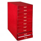 10-Drawer Cherry Cabinet