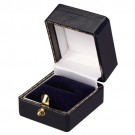 A&A Heirloom Square Ring Slot Boxes in Assorted Colors, 1.25 x 1.25 in.