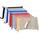 Assorted Color Transparent Drawstring Bag - Large