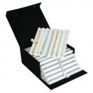 """42-Bracelet Storage Boxes w/6 Pads in Gainsboro, 7.5"""" L x 9.5"""" W"""