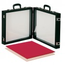 "Double-Sided Portable Glass Showcases, 16"" L x 15"" W"