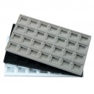 "28-Compartment Earring Card Inserts for Full-Size Utility Trays in Obsidian, 14.13"" L x 7.63"" W"