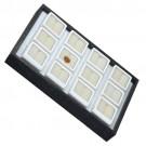 "12 Glass-Top 1.5 x 1.5"" Gem Jars w/White Rolled-Foam Inserts in Black Wood Trays, 8"" L x 5.5"" W"