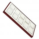 Tray For 10 Rectangle Jars - Cherry/White