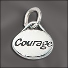 Sterling Silver Message Charm - Courage
