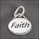 Sterling Silver Message Charm - Faith