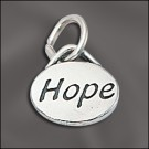 Sterling Silver Message Charm - Hope
