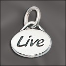 Sterling Silver Message Charm - Live