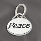 Sterling Silver Message Charm - Peace