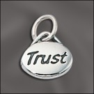 Sterling Silver Message Charm - Trust