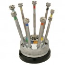 Screwdrivers on Rotating Stand Set