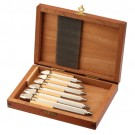 Pin Vise Set Of 6 In Wooden Box