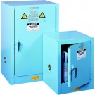 "Safety Storage Blue 22"" x 17"" x17"" 4 Gallons Cabinet"