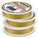 Bead Wire 19 Strand Gold Plated 0.018""
