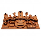 28-Piece Combination Jewelry Display Set in Chestnut & Umber