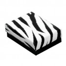 "Zebra Cotton Filled Box - B. 2 5/8"" x 1 1/2"" x 1"""
