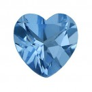 Heart Shape Synthetic Blue Zircon