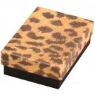 "Leopard Cotton Filled Box 3 1/4"" x 2 1/4"" x 1"""
