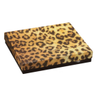 "Leopard Cotton Filled Box 3 1/2"" x 3 1/2"" x 1"""