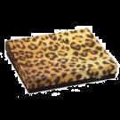 "Leopard Cotton Filled Box 3 1/2"" x 3 1/2"" x 1"""