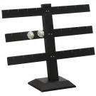 "12-Pair Triple-Tier Earring Stands in Jet, 10.25"" W x 8.5"" H"