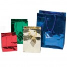 Tote-Style Gift Bags in Assorted Metallic Colors, 5 x 6 in.