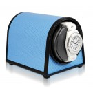 "Orbita ""Sparta Mini"" Self-Programming Single Watch Winder in Blue Lizard Skin"