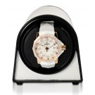 "Orbita ""Sparta Mini"" Self-Programming Single Watch Winder in White Lizard Skin"