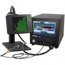 Orion 150s Pulse Arc Welder on Darkening Lens Stand