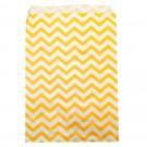"""Lemon Chevron-Print Paper Gift Bags, 4"""" L x 6"""" W"""