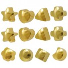 Caflon R-513-Y Ear Piercing Studs 7 Shapes Yellow