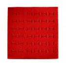 "36-Slot Econo-Foam Ring Inserts for Full-Size Utility Trays in Red, 7"" L x 7.5"" W"