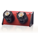 "Orbita ""Sparta Bold"" Self-Programming Double Watch Winder in Crimson"