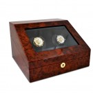 "Orbita ""Siena"" Programmable Double Watch Winder in Laquered Maple Burlwood"