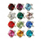 Birthstone Tiffany Set Ear Piercing Studs Sterilized Studex Assorted Dozen