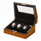"Orbita ""Siena"" Programmable 3-Watch Winder in Laquered Teakwood"