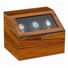 """Orbita """"Siena"""" Programmable 3-Watch Winder in Laquered Teakwood"""