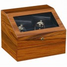 Orbita Sempre Two - Executive Watch Winder - Teak Black Leather