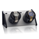 "Orbita ""Sparta Bold"" Self-Programming Double Watch Winder in Snow White"