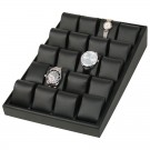 "20-Cushion Watch Display Trays in Onyx, 16"" L x 10"" W"