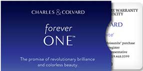 Card Forever One™ Moissanite Gemstone Created by Charles Colvard®